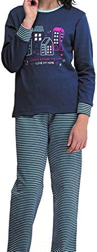 EVEN Pijama Niña Juvenil Invierno. Color Azul. Talla 12 ...