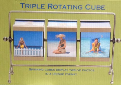TRIPLE CUBE ROTATING PICTURE FRAME