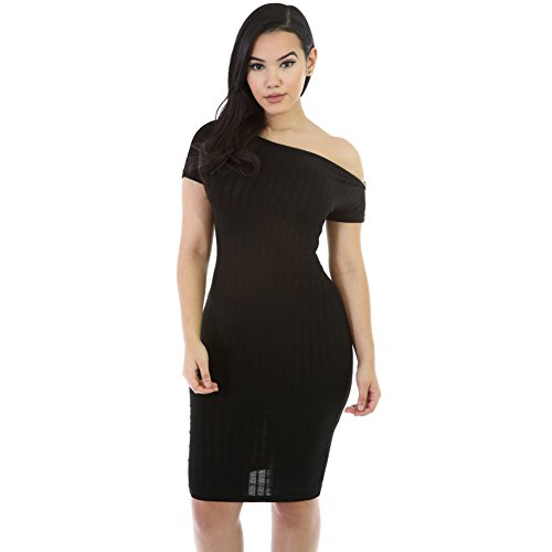 benningco-womens-zipper-neckline-bodycon-midi-dressblackl