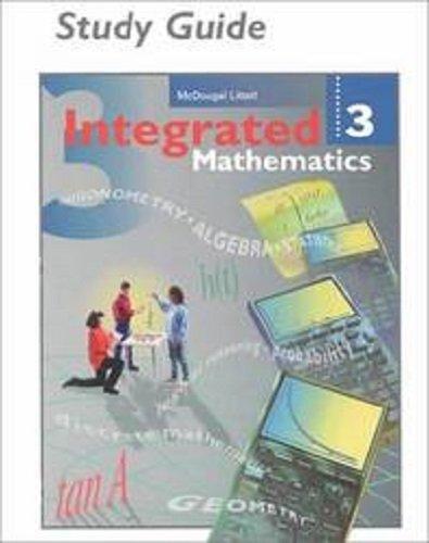 McDougal Littell Integrated Math: Study Guide, Spanish Book 3 (Spanish Edition)