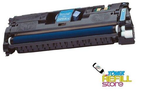 Toner Refill Store Cyan Remanufactured Toner Cartridge for HP C9701A 121A Color LaserJet 1500 2500 2500L 2500n 2500tn