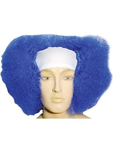 Morris Costumes Bald Curly Clown Wt Front Blue -