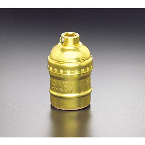 Leviton C20-09347-000 Polished Gilt Switchless Lamp ()