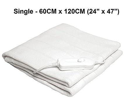 Nuevo único eléctrico lavable climatizada manta bajera 60 x 120 cm manta polar cálido