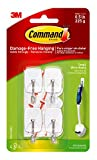 Command Small Wire Hooks, White, Holds up to 0.5