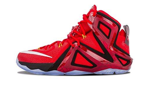 慈悲深い保険摘むナイキ(NIKE) Lebron XII 12 Elite メンズ バスケットボール 724559-618 University Red [並行輸入品]