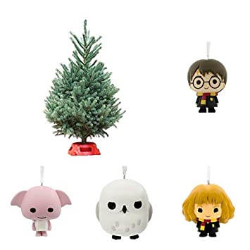 Hallmark Real Christmas Tree With Harry Potter Ornaments Black Hills Spruce 3 Foot To 4