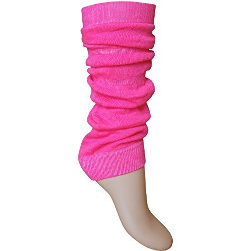 Ladies & Girls Bright Fluorescent Neon Stretch Fit Comfort Ankle Leg Warmers