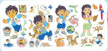 Blue Mountain Wallcoverings GAPP1827 Go Diego Go Self-Stick Wall Appliqué