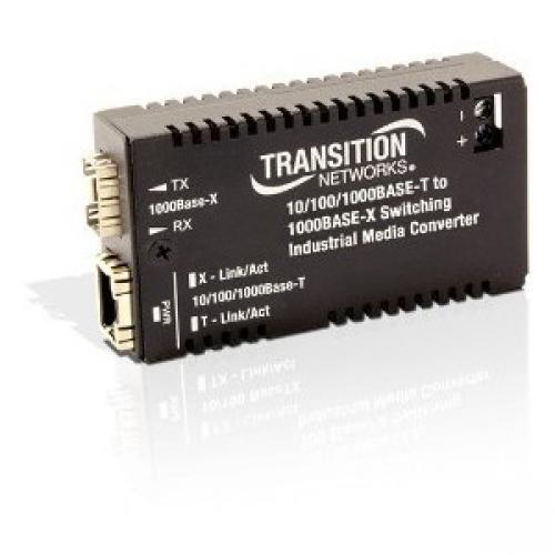 Transition Networks Hardened Mini 10/100/1000 Bridging Media Converter from Transition Networks