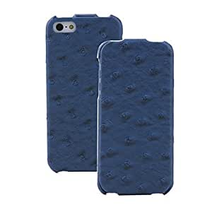 Ostrich Pattern PU Leather Flip Case with Interior Microfiber Protection for iPhone 5/5S (Optional Colors) --- COLOR:Black