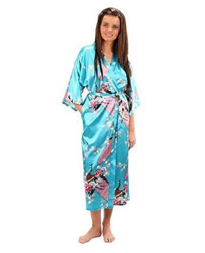 Silk Bathrobe Women Satin Kimono Robes Floral Robes Dressing Gown,As The Photo show14,XXL (Beyond Bath Kelowna Bed And)