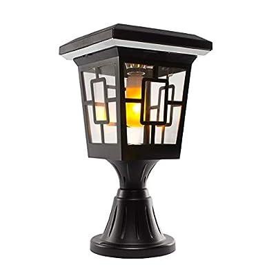 Solar Basics SB-57B Luna Flame Bulb Solar Accent Light: Stake, Pier and Wall Mounts, LED, Black