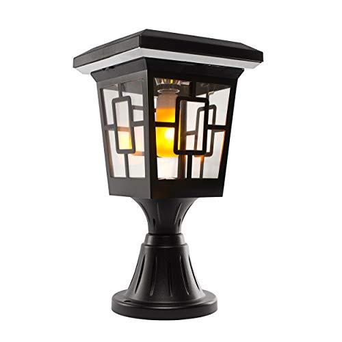 Solar Basics SBG2-57B Luna- Flame Bulb Solar Accent Light: Stake, Pier and Wall Mounts, 2-Pack, Black, 2 Count (Furniture Luna Garden)