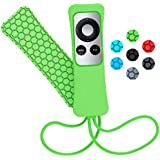 Sahiyeah Case Compatible for Apple TV Remote Case Light Weight Anti Slip Waterproof Shockproof Silicone Protective Case Cover for Apple TV 2 3 Remote Controller Green