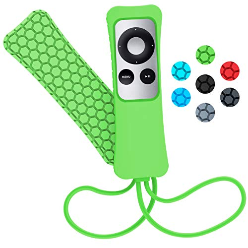 Sahiyeah Case Compatible for Apple TV Remote Case Light Weight Anti Slip Waterproof Shockproof Silicone Protective Case Cover for Apple TV 2 3 Remote Controller,Green