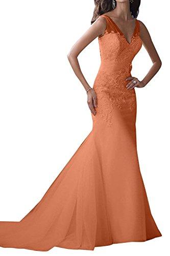 Partykleider Festlichkleider Hochzeitskleider Ballkleider Traumhaft La Braut Orange Etuikleider Abendkleider Brautkleider Langes mia 0YCxqH