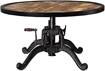 Amazoncom Industrial Adjustable height Coffee Table AJDUSTABLE