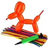SUPERMALL 100 FUNKY MODELLING ASSORTED COLOUR BALLOONS ANIMAL TWIST TYING MAKING -KIDS FUN