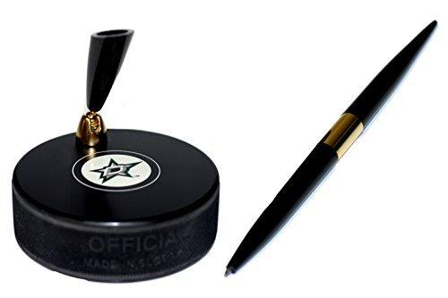 EBINGERS PLACE Dallas Stars Autograph Series Hockey Puck NHL Desk Pen Holder