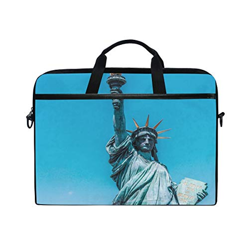 - Laptop Bag for Men Women Canvas Shoulder Messenger Bag with New York Statue of Liberty Fits 15-15.4 Inch