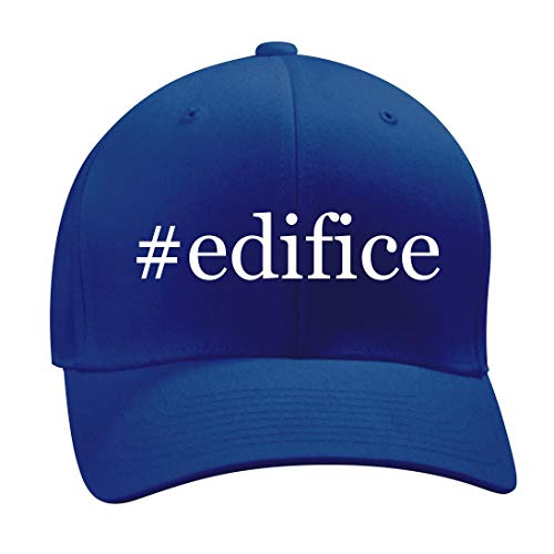 #Edifice - A Nice Hashtag Men's Adult Baseball Hat Cap, Blue, Small/Medium by Shirt Me Up