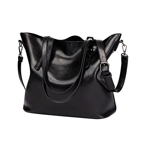 Clearance! Women Bucket Bags, Neartime Fashion Retro Crossbody Bag Shoulder Bag Handbag Versatile Tote Messenger Bags (❤️32cm(L)×12cm(W)×29.5cm(H), Black)