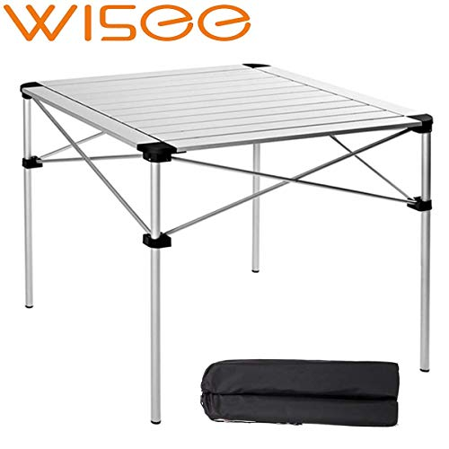 Lightweight Folding Camping Table Portable with Bag, Aluminum Alloy 28 Inch Outdoor Picnic Table...