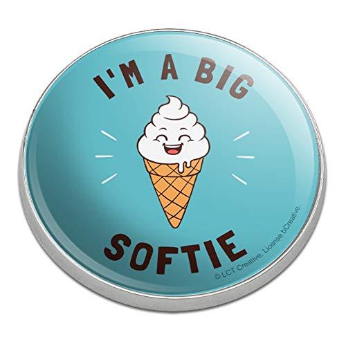 Softie Golf - GRAPHICS & MORE I'm A Big Softie Soft Serve Ice Cream Cone Funny Humor Golfing Premium Metal Golf Ball Marker