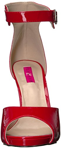 Red Women Platform Pink Dress Patent Pleaser Label r Eve02 Sandal qCpZPw7