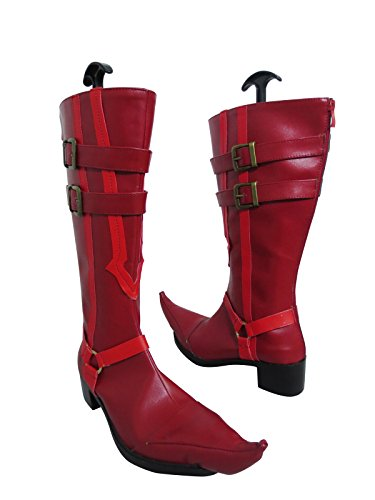 YuanCos Blue Exorcist Mephisto Pheles Samael Demon Red Long Cosplay Shoes Boots