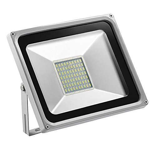 CSHITO 50W LED Flood Lights Outdoor,Waterproof IP65,4000LM,Daylight White(6000-6600K),Wall Washer Light,Super Bright Security Lights,for Garden,Yard,Stadium,Factory,Warehouse,Square,Billboard (Wall 50w Light)