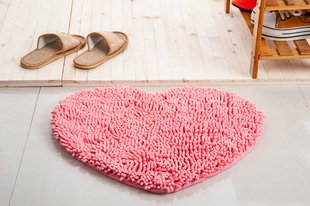 Amazon.com: Fluffy Bedroom Rug Carpet Red Love Heart Bath Mat ...