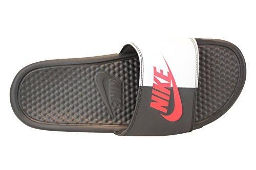 separation shoes d4041 af639 Galleon - NIKE Men s Benassi Just Do It Athletic Sandal, Black Game  Red White, 8 D US