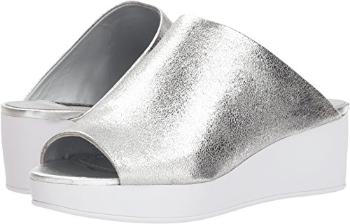 Donna Karan Reisley Silver Foil Metallic 5.5