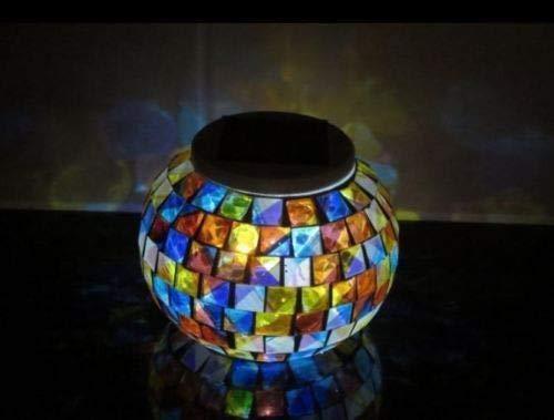 Garden Mile solar betrieben Mosaik Solarlichter LED Magisch Sunshine Kugel farb ver/ändernd Nachtlichter Party Lichter,wetterfest Kristall Glas Kugel,Tischleuchte Lampe f/ür