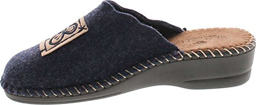 Wool House Europe Hippie in Natural Flower Navy Cozy 15217 Made Home SC Womens Slippers Collection wYqOBTxzX