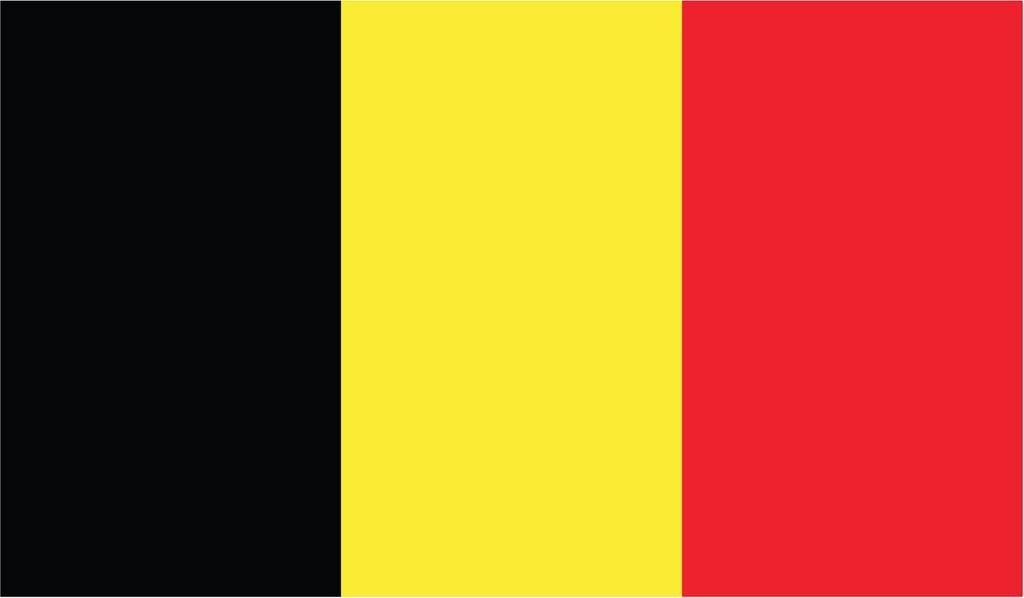 BELGIUM FLAG LAMINATED CAR SELF ADHESIVE VINYL DECAL STICKER NEW