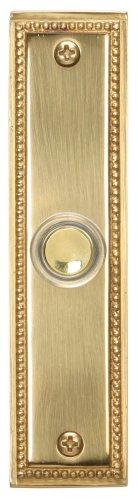 Heath Zenith 887 Wired Lighted Push Button, Polished Brass (Button Rectangular Doorbell)