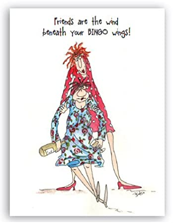 Birthday Card Friends Are The Wind Beneath Your Bingo Wings