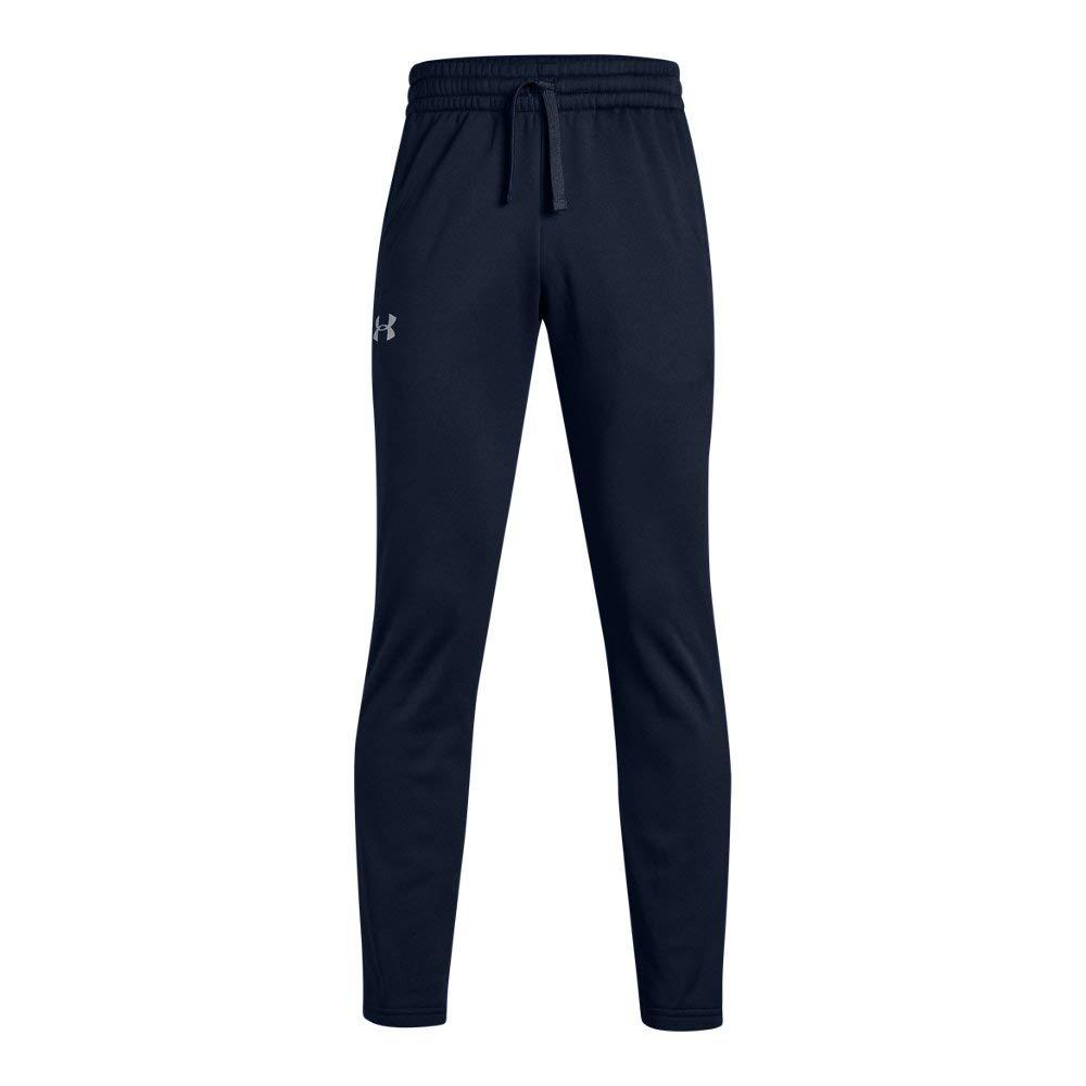 Under Armour Boys' Armour Fleece Pants, Academy (408)/Steel, Youth Small