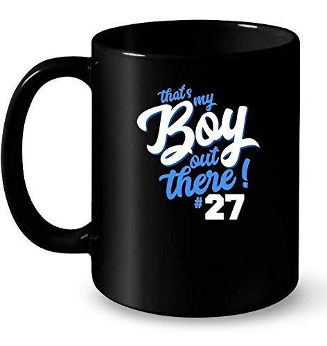 Thats My Boy Out There 27 Ceramic Mug Basketball Mom Tee