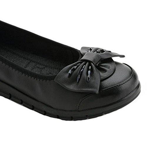 Giy Dames Casual Kwastje Mocassins Flats Loafers Comfort Instapperjurk Wandelstrik Penny Loafer Schoenen Zwart