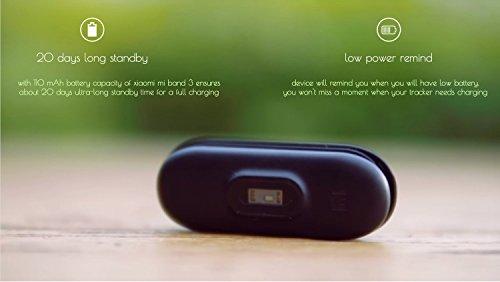 Xiaomi Mi Band 3 Global English Fitness Tracker Fashion Touch Screen Smart Watch Sport Wristband Bracelet Heart Rate Monitor Activity Workout 50M Waterproof Pedometer Weather Forecast Reminder Sleep