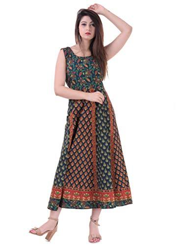 Monique Brand Present Latest Trendy Traditional Long cotton Designer Middi/Frock dress for Women (MQ-MDI||BUTI||MH16_Free size_)