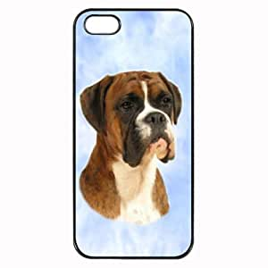 Custom Boxer Brindle Dog Hard Case Clip on Back Cover for iPhone 4 & 4S Mobile Phone