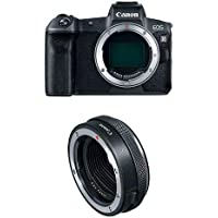 Canon EOS R Mirrorless Digital Camera (Body Only) and Mount Adapter, Black