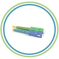SC/APC to SC Fiber Optic Patch Cable - 5M / 16.4ft - Single Mode - SIMPLEX - Commercial Quality