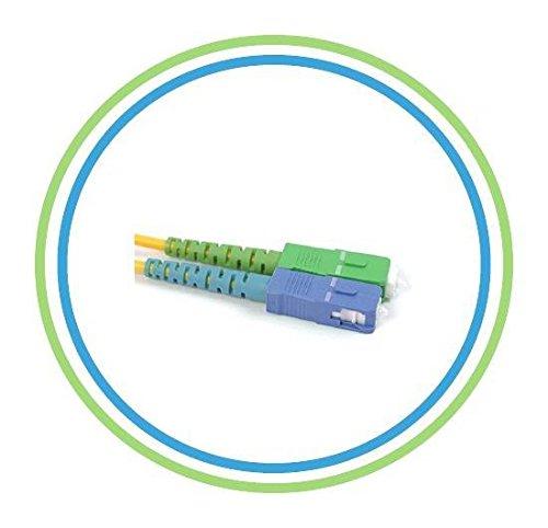 PacSatSales - SC/APC to SC - Single Mode - SIMPLEX - Fiber Optic Patch Cable - OS1-9/125um (1M)
