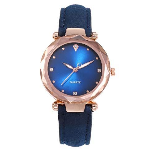 - Hosamtel Women Watch Clearance Rose Gold Tone Colorful Dial Leather Band Bracelet Watch Fashion Casual Quartz Wrist Watch